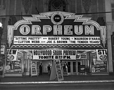 Orpheum Photograph - The Fox Orpheum Theater by Underwood Archives