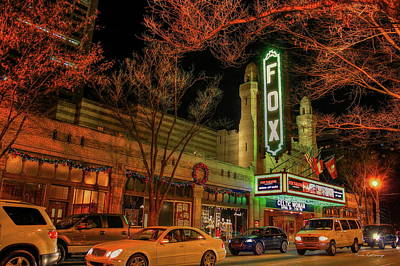 Photograph - The Fox Theater 2 Peachtree Street Art by Reid Callaway