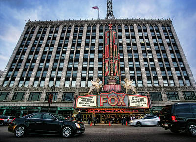 The Fox Theatre In Detroit Welcomes Charlie Sheen Print by Gordon Dean II
