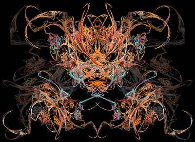 The Fractal Haunt Inversion Art Print