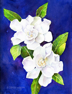 Watercolor Painting - The Fragrant Gardenia by Arline Wagner