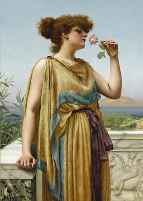 Painting - The Fragrant Rose by John William Godward