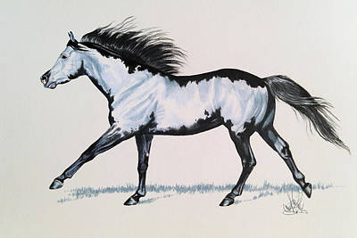 Painting - The Framed American Paint Horse by Cheryl Poland