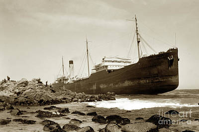 Photograph - The Frank H. Buck Was An Oil Tanker Of The Associated Oil Company And Was 427 Feet Long May 1924 by California Views Mr Pat Hathaway Archives