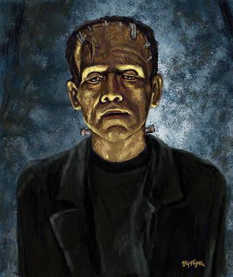The Frankenstein Monster  Art Print by Neil Feigeles