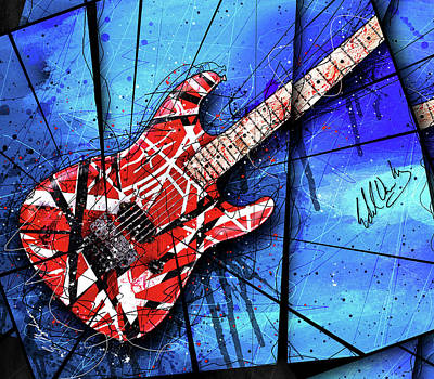 Van Halen Digital Art - The Frankenstrat Vii Cropped by Gary Bodnar