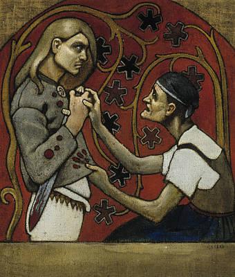 Nationalism Painting - The Fratricide by Akseli Gallen-Kallela