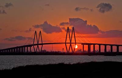Island Stays Photograph - The Fred Hartman Bridge by Linda Unger