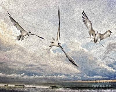 Digital Art - The Freedom Of Flight by Laurel D Rund