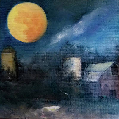 Painting - The Freedom Of The Moon by Michele Carter