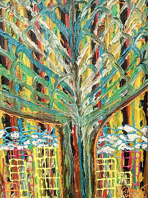 The Freetown Cotton Tree - Abstract Impression Art Print