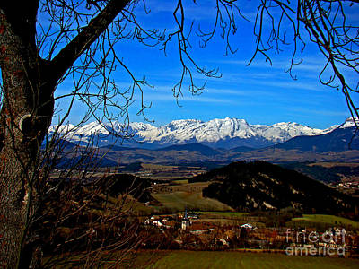 Photograph - The French Alps, Seen From The Route Napoleon by Al Bourassa