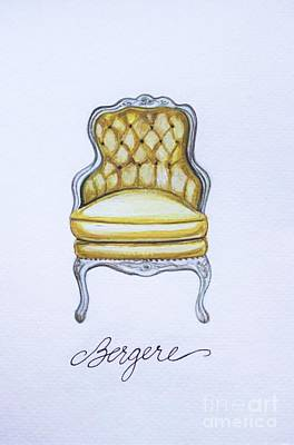 Painting - The French Bergere Chair by Elizabeth Robinette Tyndall