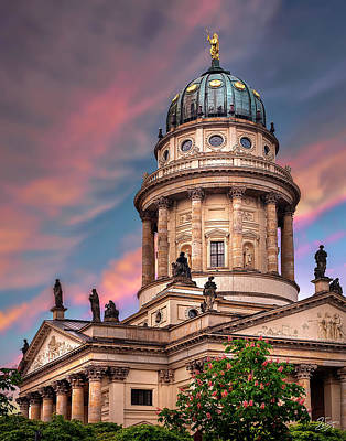 Photograph - The French Church In Berlin 2 by Endre Balogh
