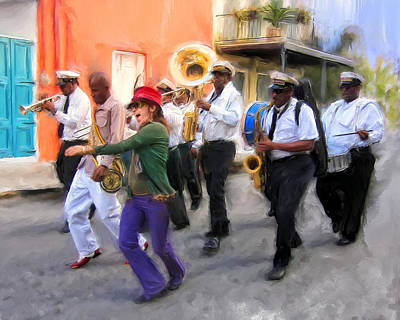 The French Quarter Shuffle Art Print by Dominic Piperata
