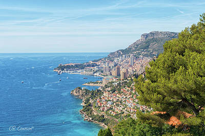 Photograph - The French Riviera by CR Courson