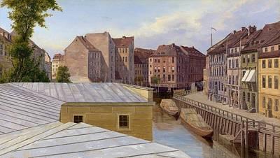 Cardboard Painting - the Friedrichsgracht by Johann Philipp