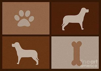Pup Digital Art - The Friend - For Dog Lovers by Prar Kulasekara