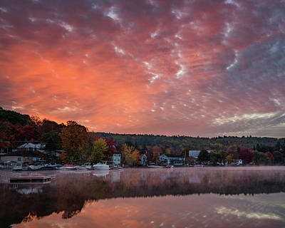 Photograph - The Friendly Village Under A Colorful Sky by Darylann Leonard Photography
