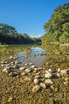 Reflexion Photograph - The Frio River In Texas by Andre Babiak