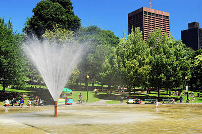 Photograph - The Frog Pond, Boston Common by James Kirkikis