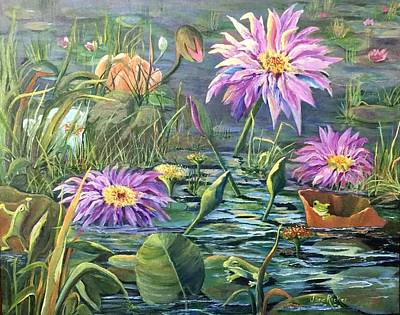 Painting - The Frog Pond by Jane Ricker