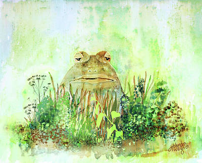 Frogs Mixed Media - The Frog Prince - Patiently Waiting For The Kiss by Arline Wagner