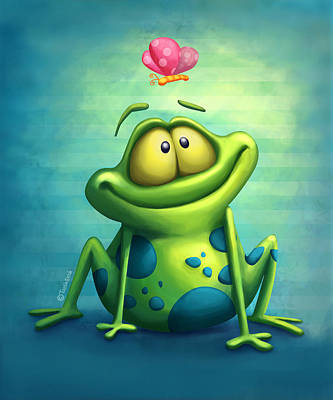 Amphibians Digital Art - The Frog by Tooshtoosh