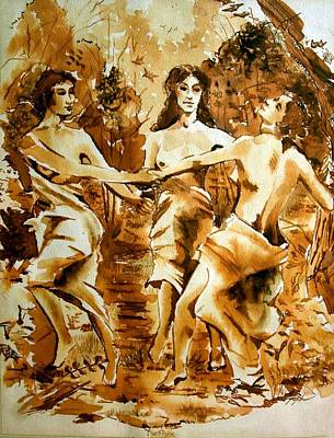 Painting - The Frolic by Lord Toph