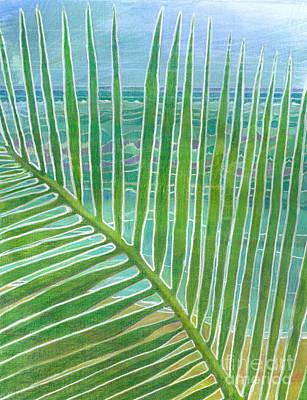 Painting - The Frond - Bahamas by Amelia at Ameliaworks