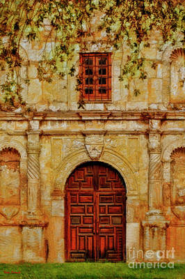 Photograph - The Front Door Of The Alamo San Antonio  by Blake Richards