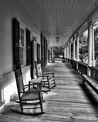 Photograph - The Front Porch Black And White by Judy Vincent