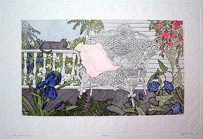 Judith Hall Painting - The Front Porch by Judith Hall