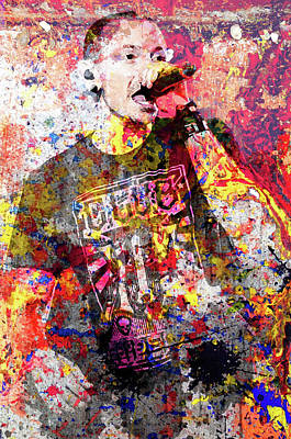 Chester Bennington Painting - The Frontman by Mahes Ardian
