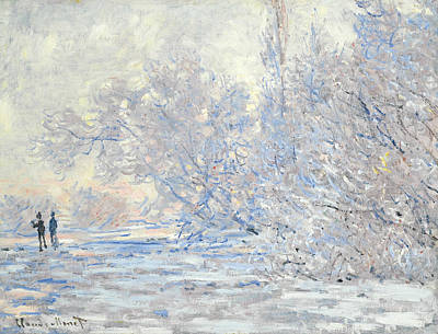 The Frost In Giverny  Art Print by Claude Monet