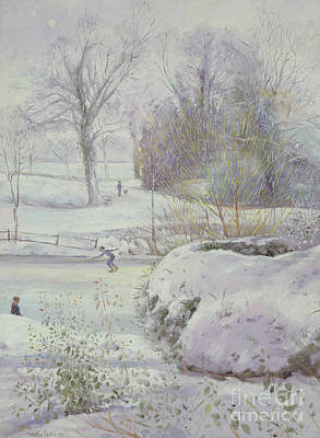 Skating Painting - The Frozen Day by Timothy Easton