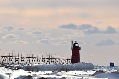 Photograph - The Frozen Lighhouse by Jenny Regan