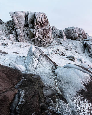 Photograph - The Frozen Peak Of Bearnagh by Glen Sumner