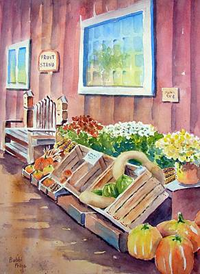 The Fruit Stand Art Print by Bobbi Price