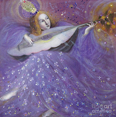 Guitar Angels Painting - The Fruits Of The Soul II  by Annael Anelia Pavlova