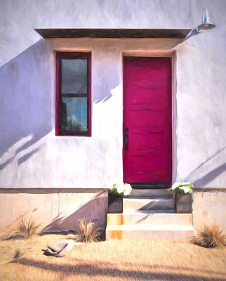 Photograph - The Fuchsia Door by Susan Rissi Tregoning
