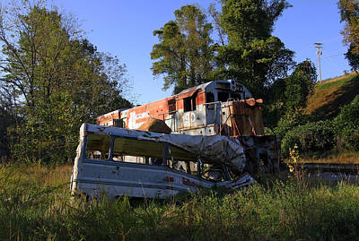 Photograph - The Fugitive Train Wreck by Joseph C Hinson Photography