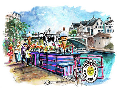 Painting - The Full Moo In York by Miki De Goodaboom