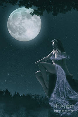 Photograph - The Full Moon by Clayton Bastiani