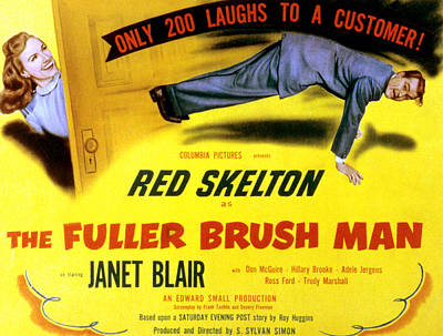 The Fuller Brush Man, Janet Blair, Red Art Print by Everett
