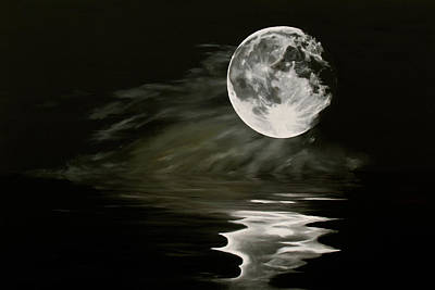 Painting - The Fullest Moon by Elisabeth Dubois