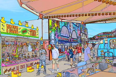 Digital Art - The Fun Of The Fair 1 by Wendy Le Ber