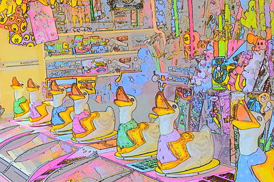 Digital Art - The Fun Of The Fair 2 by Wendy Le Ber