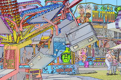 Digital Art - The Fun Of The Fair 3 by Wendy Le Ber