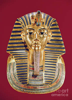 The King Photograph - The Funerary Mask Of Tutankhamun by Egyptian School